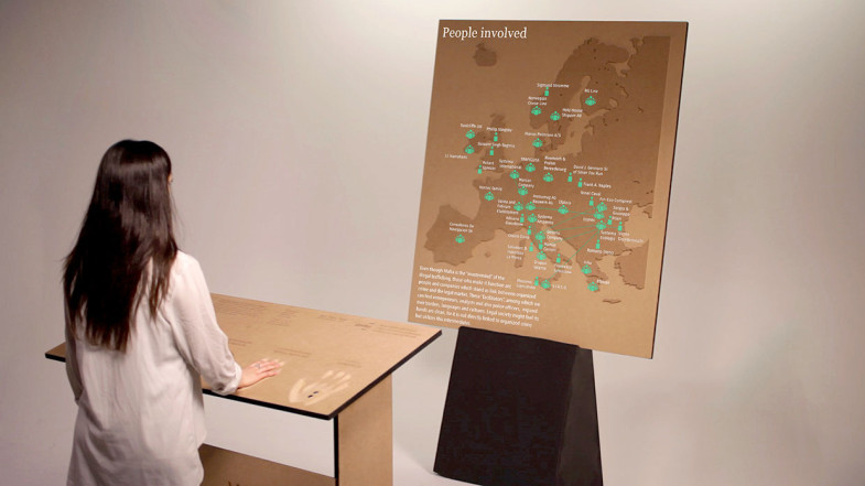 Ghost Waste - An interactive installation about eco-mafia - Marco Carta, Lorenzo Colombi, Bianca Lampariello, Kris Krois, Gianluca Seta, Hans Höger
